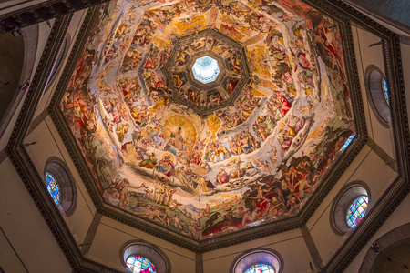 FLORENCE, ITALY, OCTOBER 24, 2015 : interios and architectural details of cathedral Santa Maria del fiore, october 24, 2015 in Florence, Italy