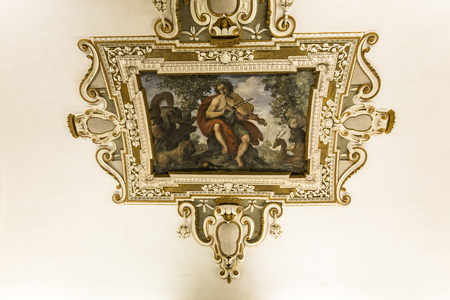 ROME, ITALY, JUNE 13, 2015 : interiors and architectural details of Palazzo Barberini, june 13, 2015, in Rome, Italy