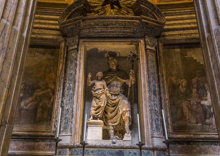 ROME, ITALY, JUNE 14, 2015 : interiors and architectural details of the pantheon, june 14, 2015, in Rome, Italy Editorial