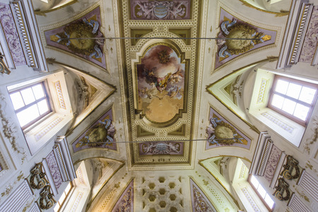 PISA, ITALY, JUNE 05, 2016 : interiors and architectural details of Pisa charterhouse, june 05, 2016 in Pisa, Italy Editorial