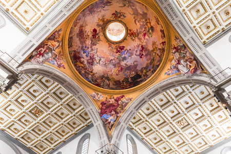 FLORENCE, ITALY, OCTOBER 23, 2015 : interiors and architectural details of basilica San Lorenzo, october 23, 2015 in Florence, Italy Editorial