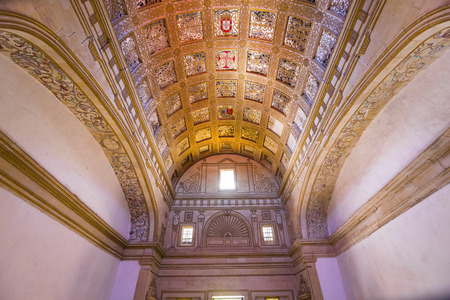 TOMAR, PORTUGAL, JUNE, 23, 2017 : architectural details of  Convent of Christ, june 23, 2017, in Tomar, Portugal Editorial