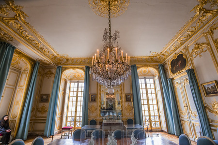 VERSAILLES FRANCE  JANUARY 06 : Interiors and details of the royal apartments of Versailles, near Paris, France.  january 06, 2018 in Versailles, France