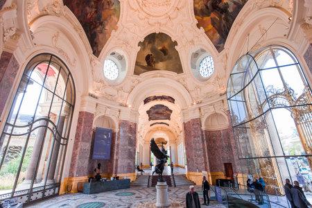 PARIS, FRANCE, APRIL 04, 2017 : interiors and architectural details of the Petit Palais, april 04, 2017, in Paris, France