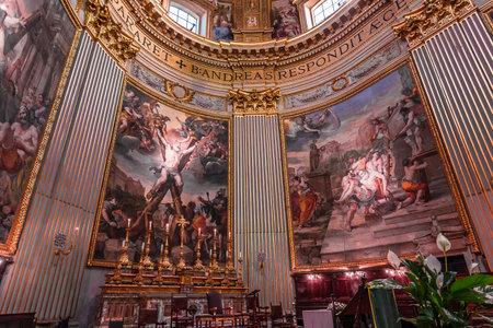 ROME, ITALY, JUNE 14, 2015 : interiors and architectural details of Sant Andrea della Valle basilica, june 14, 2015, in Rome, Italy Editorial