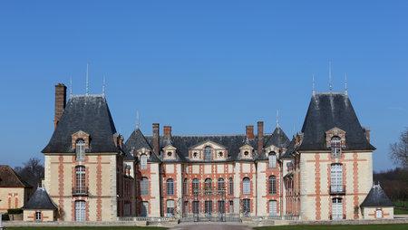 BOISSY SAINT LEGER, FRANCE  APRIL 24 : exteriors and park of Grosbois castle,  april 24, 2018, in boissy saint leger, France Editorial
