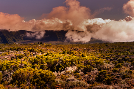 Piton de la Fournaise volcano, Reunion island, indian ocean, France