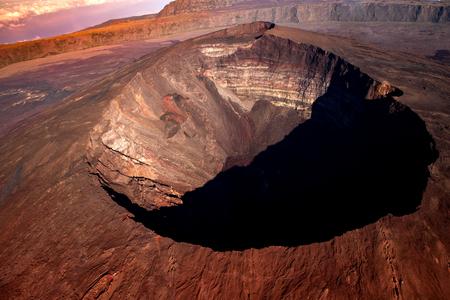 Volcan Piton de la Fournaise, île de la Réunion, océan indien, France