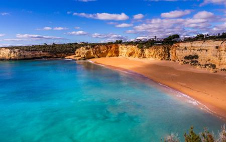 Beach and cliffs of Senhora da rocha, in Lagoa, Algarve, Portugal