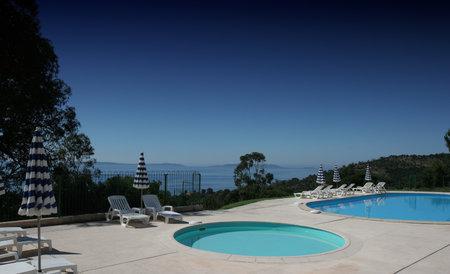 swimming pool in Le Lavandou, french riviera Redakční