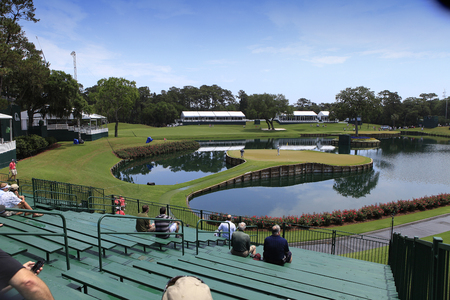 PONTE VEDRA GOLF COURSE, FLORIDA, MAY 20 , 2012 : Hole 17 at The Players championship, on practice day, PGA Tour, Ponte Vedra, Florida, USA, May 20, 2012 Editorial