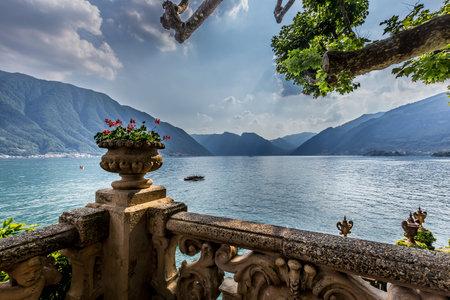 LENNO, ITALY, JUNE 04, 2019 : exteriors of villa del Balbianello, on lake Como, june 04, 2019, in Lenno, italy