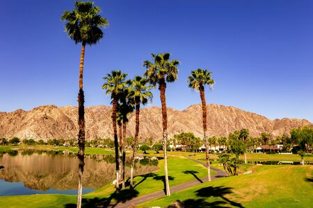 golf course in La Quinta, Palm Springs, California, usa