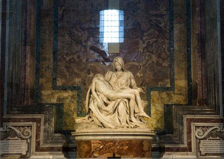 VATICAN CITY, VATICAN – JUNE 15, 2015 : Pieta statue of Michelangelo in Basilica of saint Peter, june 15, 2015, in Vatican city, Vatican Editorial