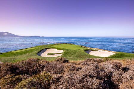 Pebble Beach golf course, Monterey, California, usa Banque d'images