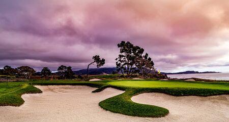 Pebble Beach golf course, Monterey, California, usa Foto de archivo