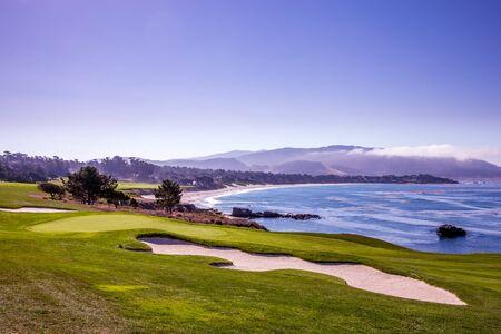 Pebble Beach golf course, Monterey, California, usa Standard-Bild
