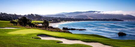 Pebble Beach golf course, Monterey, California, usa Imagens