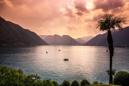 wiew of lake Como, near Bellagio, piedmonte, italy