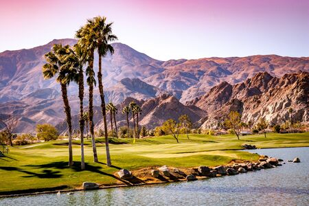 golf course in Palm Springs, California, usa