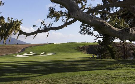 A view of Pebble Beach golf  course, Monterey, California, USA