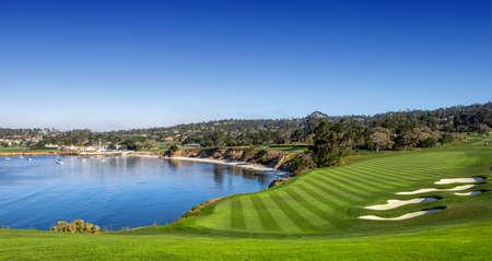 A view of Pebble Beach golf course, Hole 6, Monterey, California, USA