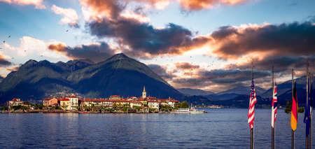 STRESA, ITALY, MAY 25, 2019: Borromean islands, lake maggiore, may 25, 2019, in Stresa, italy
