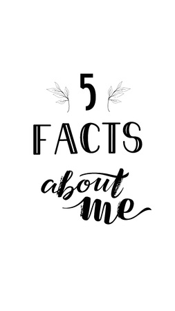 Isolated Social Media Stories Template Lettering SMM 5 facts about me Illustration