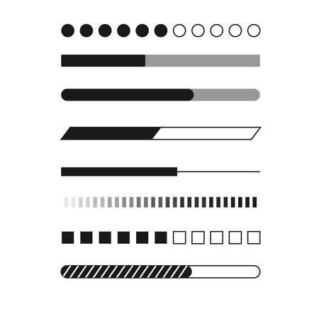 Web progress loader interface load icon upload sign symbol download element network shape vector illustration