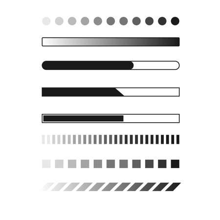 Web progress loader interface load icon upload sign digital symbol download element network shape vector illustration