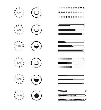 Web progress loader interface load icon upload sign symbol download data network wait transfer vector illustration