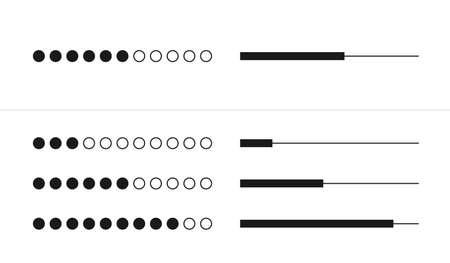 Web progress loader interface load status upload data symbol download buffer network shape vector illustration Ilustrace