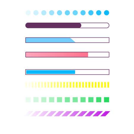Web progress loader interface load icon upload sign digital symbol download menu status wait vector illustration