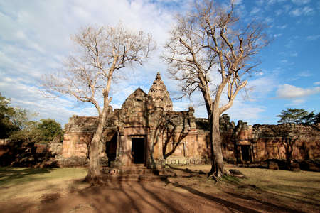Prasat Hin Phanom Rung ( Phanom Rung Stone Castle), is a Khmer temple complex set on the rim of an extinct volcano at 402 metres (1,319 ft) elevation at Phanom Rung Historical Park