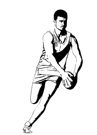 by the rules: An Australian Rules footballer about to kick the ball