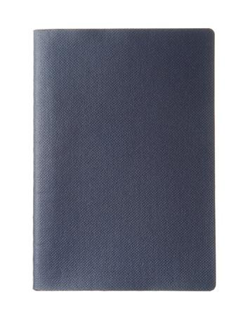 passeport: Blank passeport bleu fonc�, avec copie espace isol� sur fond blanc