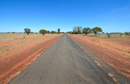 the outback: Outback road in Western Queensland.   Photo CHRIS ISON Stock Photo