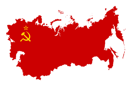 sickle: The territory of the Soviet Union. Isolated illustration on a white background.