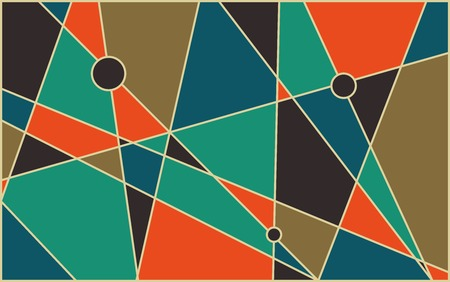 mid century modern: Abstract geometric mid century vector background. Retro space poster design. Illustration
