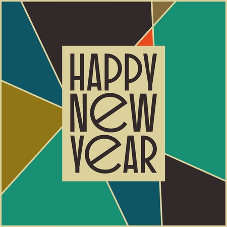 abstract vintage mid century new year s card design abstract geometric space background