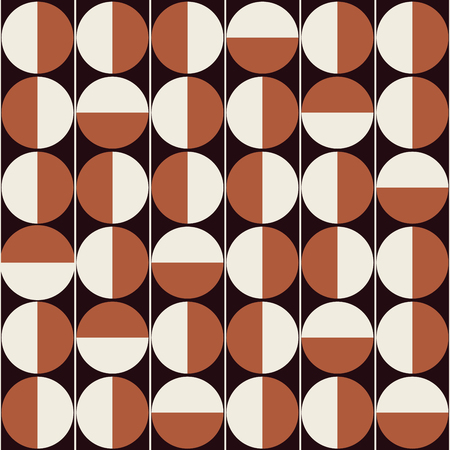 Vector seamless pattern background in retro mid century style