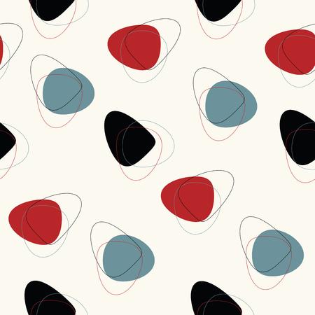 Motif géométrique abstraite sans couture de vecteur siècle absctract. Design rétro de l'espace.