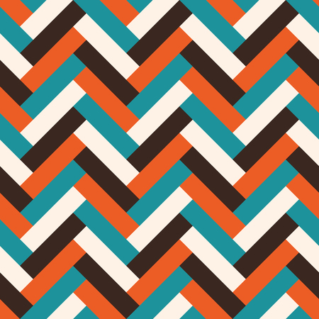 Vector seamless abstract geometric tile mid century style pattern. Illusztráció