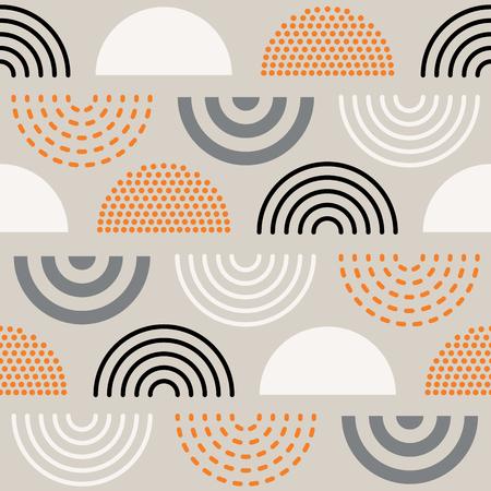 Vector sin fisuras patrón geométrico absctract de mediados de siglo. Diseño retro.