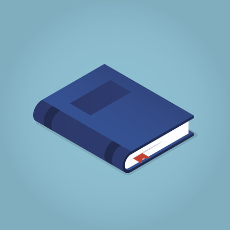 Isometric book icon vector illustration in flat design style isolated. Academic education symbol learning, reading, school, knowledge science university library sign.