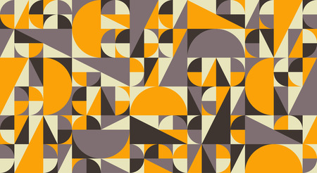Abstract geometric mid century vector background. Retro space poster design. Illustration