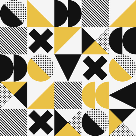 Vector seamless abstract geometric modern style pattern.