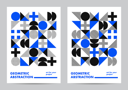 Abstract template poster design. Creative vector solution for your event or announcement. Modern geometric design.