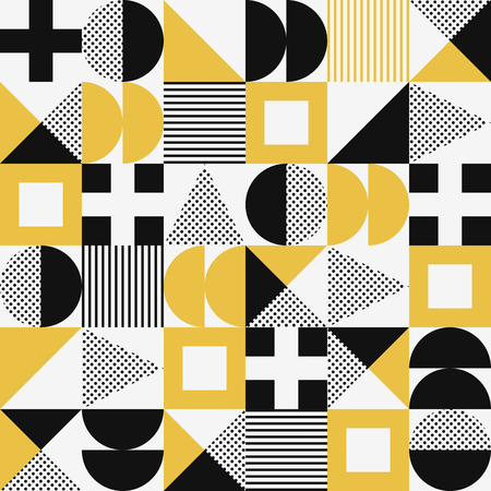 Vector seamless abstract geometric modern style pattern. Foto de archivo - 124534527