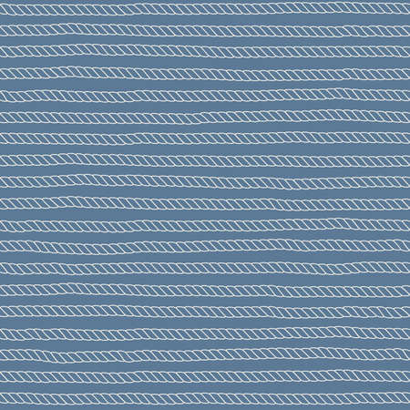 Seamless nautical vector pattern. Rope background in vintage style.